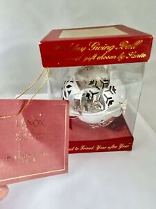 LENOX KIRK STIEFF COLLECTION Silver Plated GIVING BALL ORNAMENT Snowflake IOB