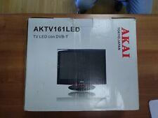 "Akai  16"" TV 12 V Camper Barca Tir alimentazione 12 V o 220 V in dotazione"