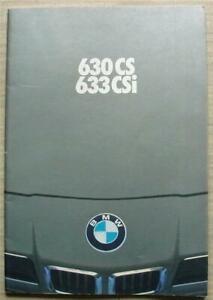 BMW 630 CS & 633 CSi Car Sales Brochure Jan 1977 NORWEGIAN TEXT #7 11 07 01 69