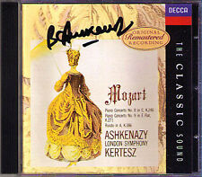 Ashkenazy firmato Mozart PIANO CONCERTO 8 & 9 Kertesz CD DECCA Classic Sound