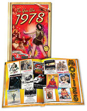 1978 Flickback Mini-Book:  40th Birthday Gift or 40th Anniversary Gift