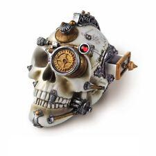 Alchemy Gothic Steampunk Erasmus Darwin's Steam-Cerebrum Skeleton Resin Skull