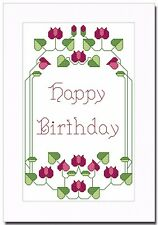ART DECO HAPPY BIRTHDAY CROSS STITCH CARD KIT