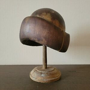 Fastship Vintage women hat block Millinery supplies Wooden hat Hatmakers Antique