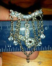 Key Genuine Playboy Bunny blue diamontie Navel Ring Belly Bar Sexy Jewellery