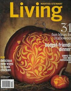 Martha Stewart Living Magazine Halloween Projects Budget Friendly Dinners 2013