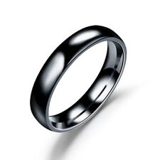 4MM Stainless Steel Men Women Wedding Engagement Anniversary Ring Band Size 5-15