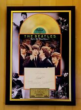 THE BEATLES AUTHENTIC HAND SIGNED AUTOGRAPHS 1976 GOLD VINYL Rock 'n' Roll Music