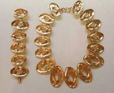 Vintage Carol Dauplaise Haute Parure Statement Large Links Necklace Bracelet 90s