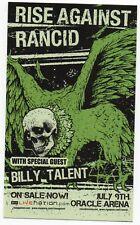 Nice Original 2007 Rise Against Rancid Small Oakland California Concert Handbill