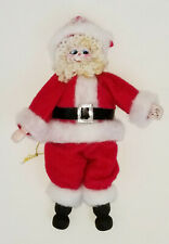 Rare 1983 Signed Ripley Hand Painted Folk Art Santa Christmas Ornament ~ 6.75""