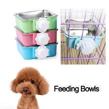 Feeding Stainless Steel Puppy Feeder Hanging Bowl Water Food Dish Feeding Bowls