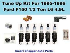 Tune Up For Ford F150 1/2Ton L6 4.9L Serpentine Belt Filter Spark Plug PCV Valve
