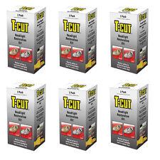 6 x T CUT HEADLIGHT RESTORATION KIT RESTORES CAR HEADLAMP BACK TO CRYSTAL CLEAR