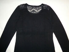 Magnifique pull fin dos brodé CAROLL automne-hiver - Femme taille 40 - TBE !