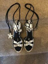 Karen Millen Wedges Sandal Tie Up The Leg Size 40