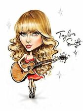 Taylor Swift You Belong With Me 1989 Caricature Pop Sticker or Magnet