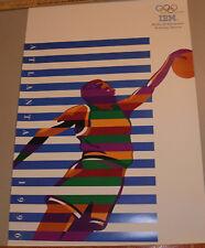 3 1996 IBM SUMMER OLYMPIC GAMES POSTERS! 24x36 ATLANTA GA! BASKETBALL,GYMNASTICS