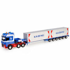 1:64 Scale Diecast Low Bed Transporter Truck Vehicle Car With 2 Containers