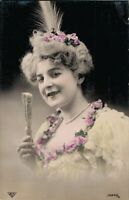 Vintage Beautiful Women in Dresses with Flowers and more Postcard Lot of 8 01.13