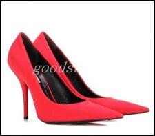 Vogue Womens Satin Pointy Toe Pumps High Heels Party OL Dress Stilettos Shoes SZ