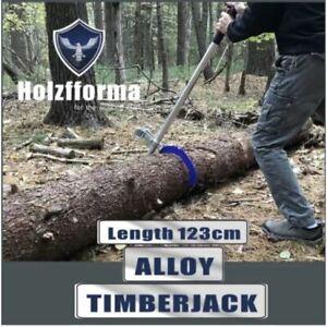 Alloy Timberjack Wood Chuck Log Lifter Roller Fencing Jack Hook Detachable Tool