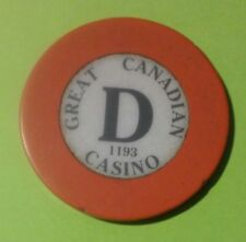 GREAT CANADIAN CASINO HARD TO FIND TABLE D ROULETTE CHIP GREAT FOR COLLECTION!