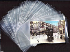 "Lot 100 Transparent /Clear Plastic Sleeves 3.75 "" X 6 "" for Postcard Collection"