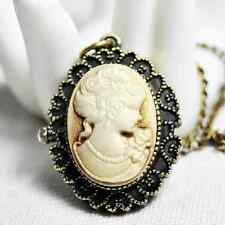 Cameo Watch oval Traditional Pocket Necklace BROWN NEW