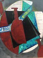 Très Belle Peinture nature morte cubiste Huile Sur Panneau Hsp de Paul Cham