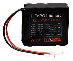 LiFePO4 Akku 12V 3Ah mit BMS (Batterie Management System)
