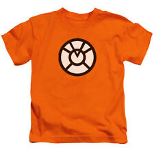 Authentic DC Comics Green Lantern Orange Corp Ring Logo Juvy Size 7 Kids T-shirt