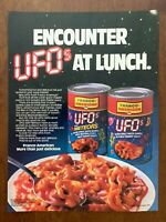 1983 Franco-American UFOs Meteors Vintage Print Ad/Poster Pop Art Décor
