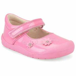GIRLS START RITE PALE LILAC GLITTER PATENT SPARKLE SHOES NEW IN BOX UK 6.5 F