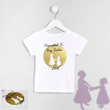 Kids Girls Promoted to BIG SISTER T-Shirt Casual Premium Childrens Tee Top Gift