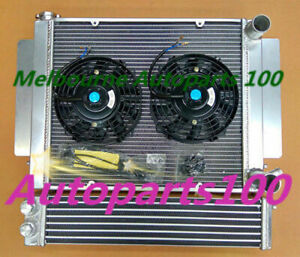 Aluminum radiator RX2 RX3 RX4 RX5 with heater pipe+Two Fans+Oil Cooler for Mazda