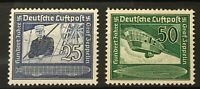 GERMANY 3rdReich Mi 669-670 Sc C59-60 100th Birthday of Graf Fer Zeppelin MNH