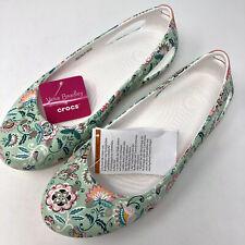 Crocs Vera Bradley Kadee Women's Size 8 Floral Mint Ballet New