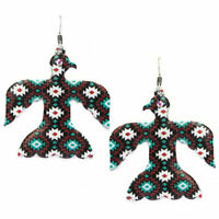 aztec Thunderbird Zuni  LARGE EARRINGS SOUTHWEST COWGIRL WESTERN