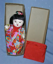 Vintage Composition Oriental Asian Japanese Doll in Orignal Box