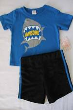 85315c3416e1 NEW Baby Boys 2 Piece Set Size 12 Months Outfit T Shirt Shorts Shark Jaws  Blue