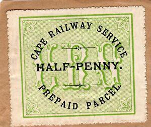 Cape of Good Hope : Cape Railway Service - Parcel ½d PERF ON PIECE