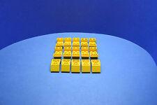LEGO 15 x Schrägsteine negativ 45 Grad 4x2 gelb | yellow roof tile 4871
