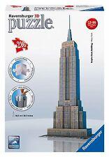 PUZZLE RAVENSBURGER 3D EMPIRE STATE BUILDING 216 PEZZI NUOVO ORIGINALE 12553