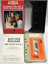 ABBA Japan Cassette Tape Greatest Hits Vol.2 DCP-4004 Slip Case Insert Discomate