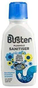 1 x Buster Plughole Sanitiser Foaming Eucalyptus Granules, 300g