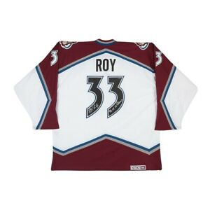 Patrick Roy Signed Autograph Authentic Jersey Avalanche Inscribed SC Champs UDA