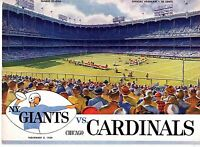1959 (Nov.8) NFL Football Program, Chicago Cardinals @ New York Giants