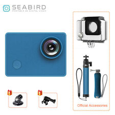 Seabird 4K WiFi Sports & Action Video Cameras with Waterproof Housing Case Blue