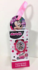 NEW Disney MINNIE MOUSE Flashing Icon Dial Kids WATCH Award Party Halloween Gift